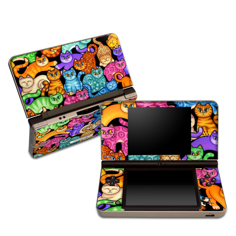 Colorful Kittens Nintendo DSi XL Skin