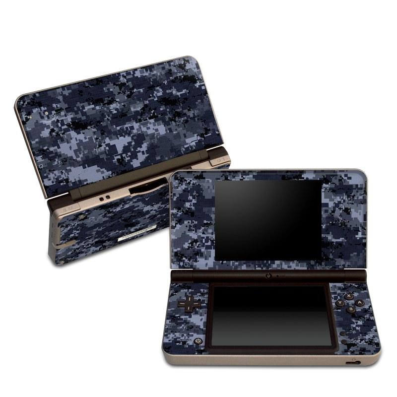 Digital Navy Camo Nintendo DSi XL Skin