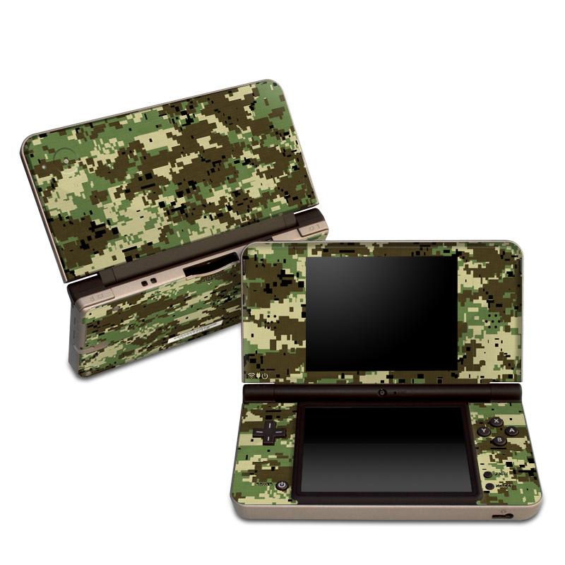 Digital Woodland Camo Nintendo DSi XL Skin