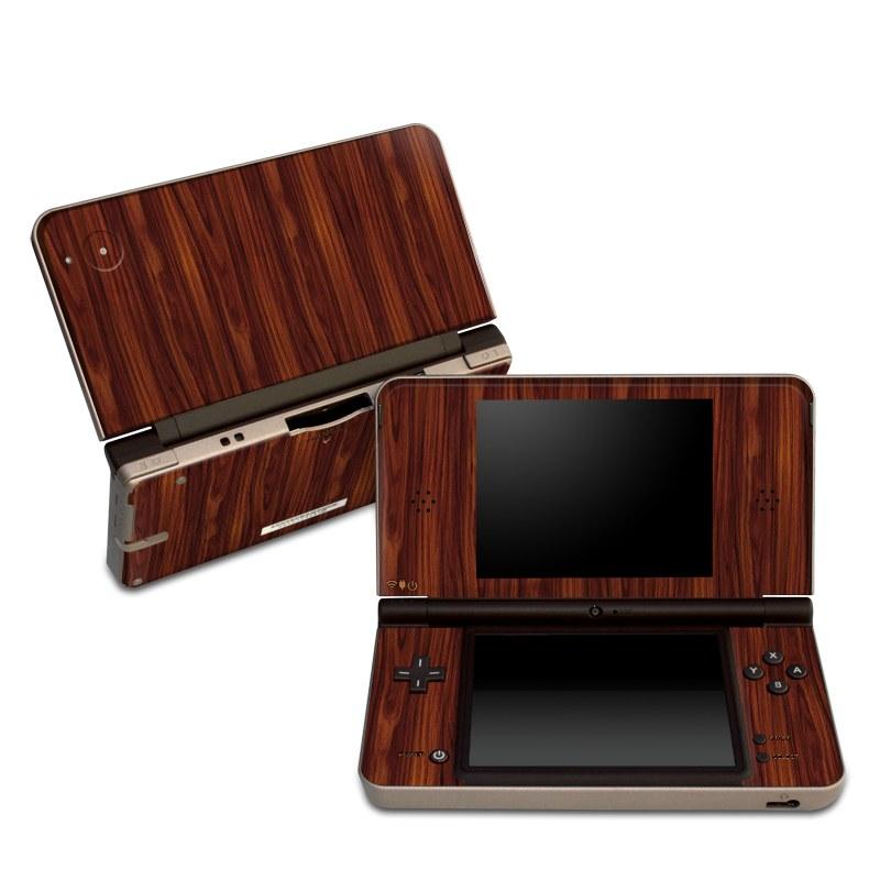 Dark Rosewood Nintendo DSi XL Skin