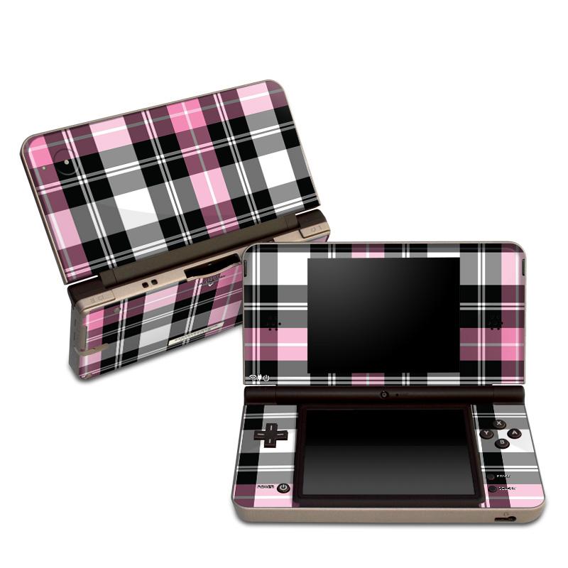 Pink Plaid Nintendo DSi XL Skin