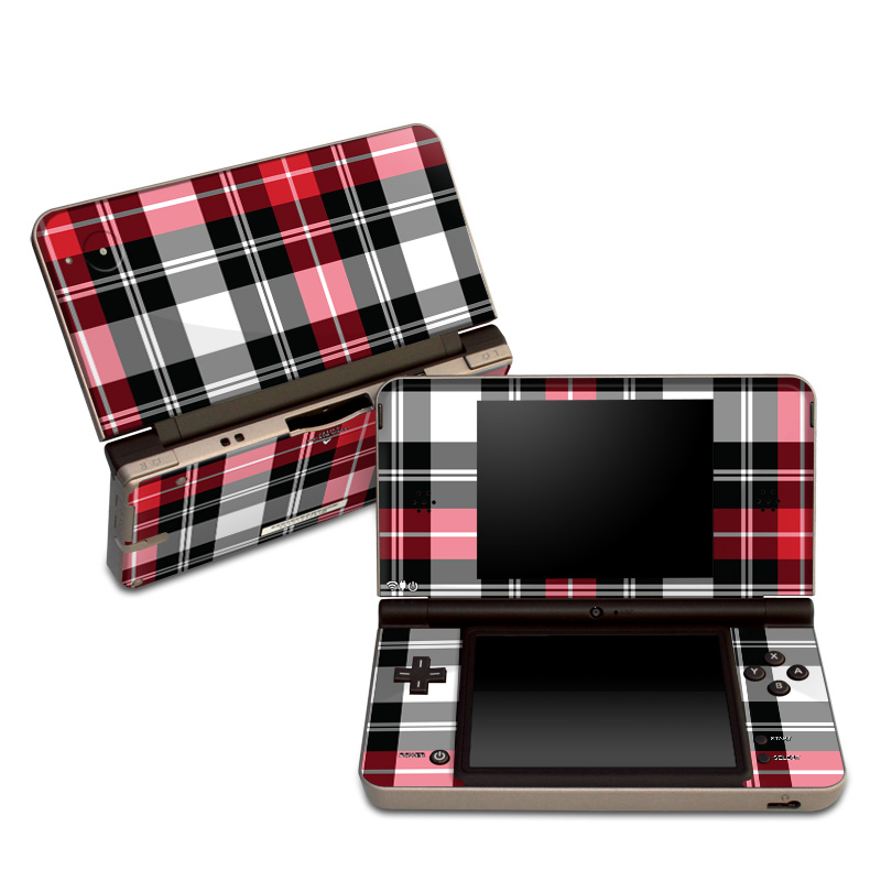 Red Plaid Nintendo DSi XL Skin