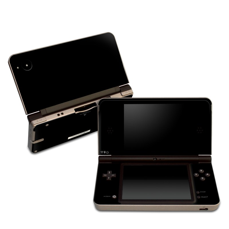 Solid State Black Nintendo DSi XL Skin