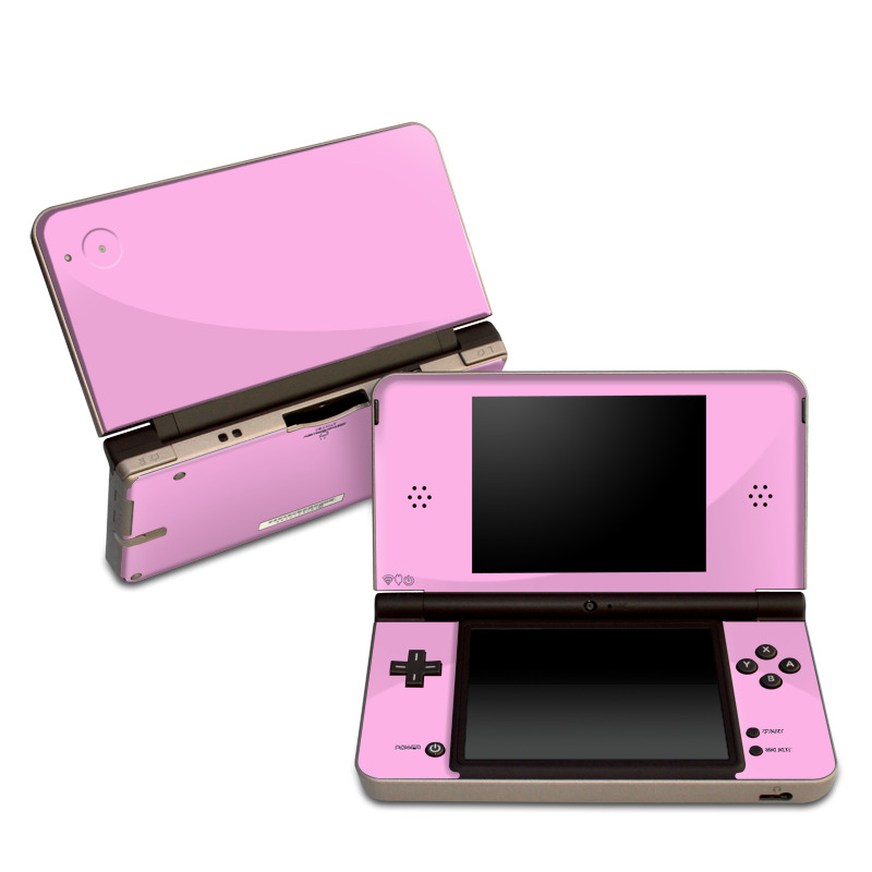 Nintendo DSi XL Skin design of Pink, Violet, Purple, Red, Magenta, Lilac, Sky, Material property, Peach with pink colors