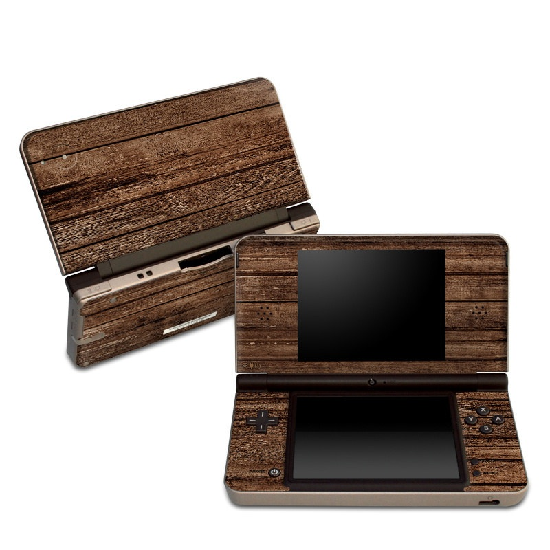 Stripped Wood Nintendo DSi XL Skin