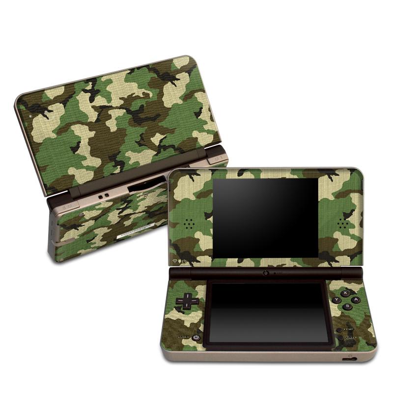 Woodland Camo Nintendo DSi XL Skin
