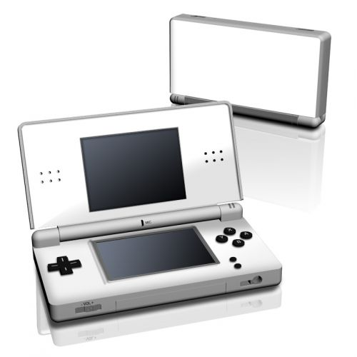 Solid State White Nintendo DS Lite Skin