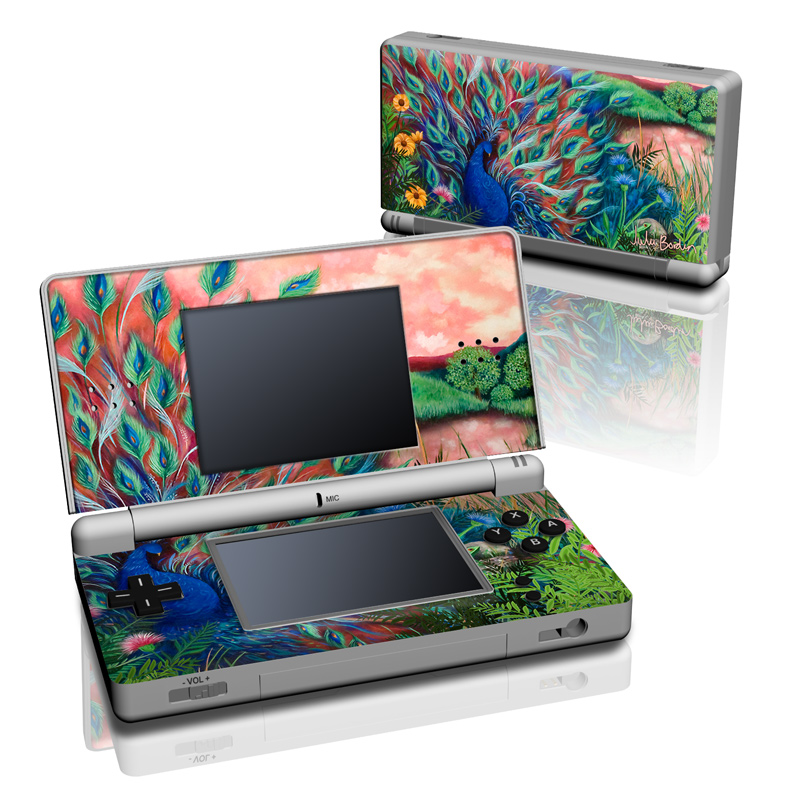 Coral Peacock Nintendo DS Lite Skin