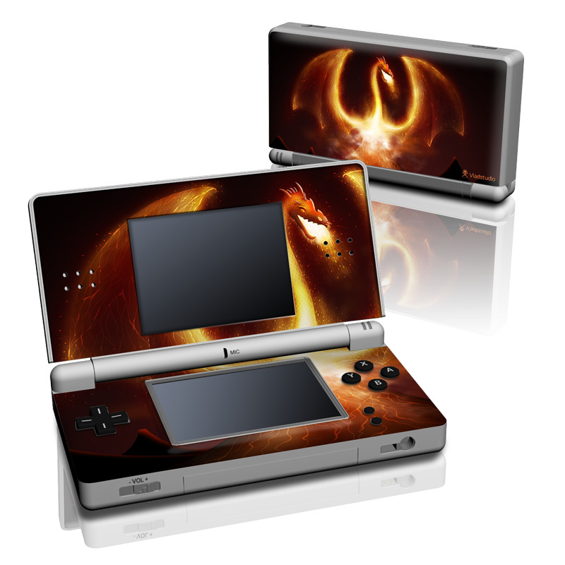 Fire Dragon Nintendo DS Lite Skin