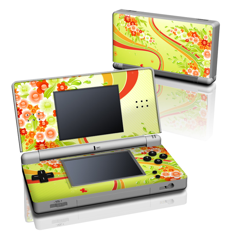 Flower Splash Nintendo DS Lite Skin