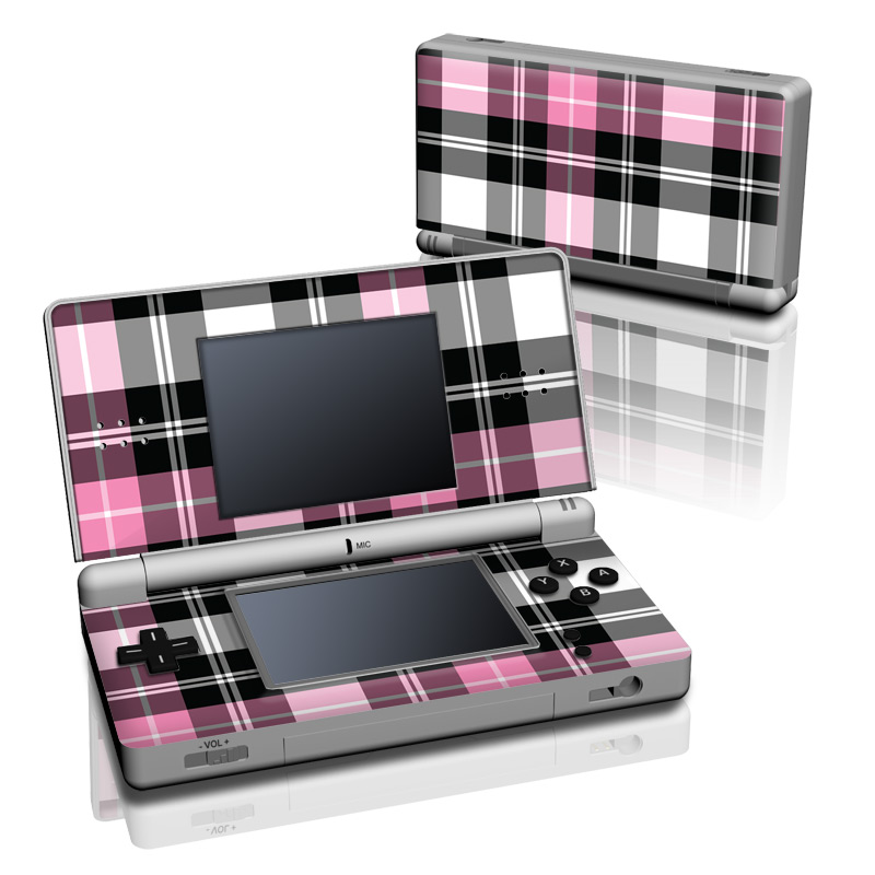 pink plaid nintendo ds lite skin istyles. Black Bedroom Furniture Sets. Home Design Ideas