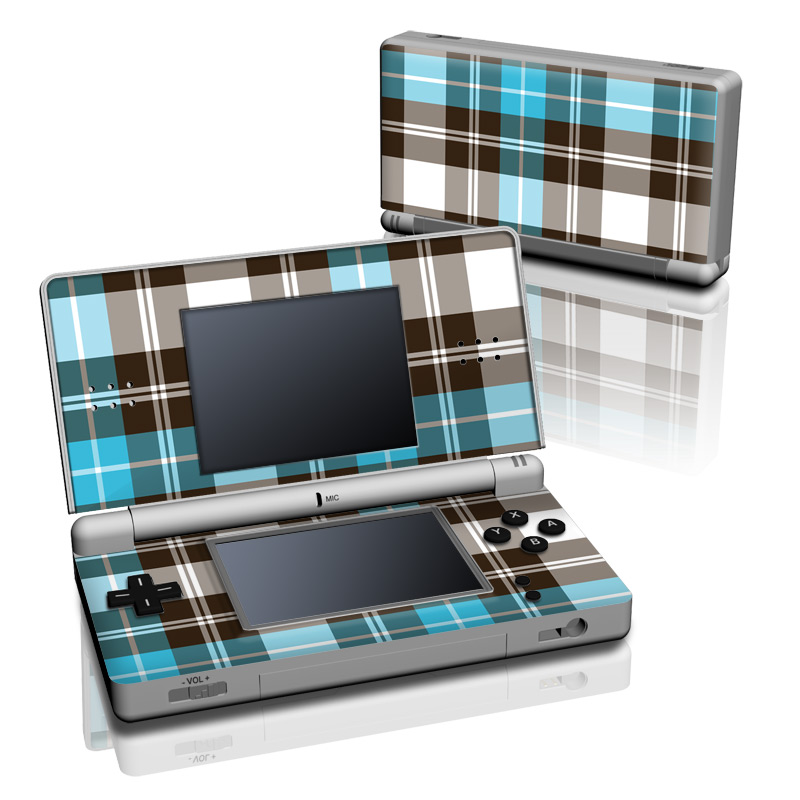 Turquoise Plaid Nintendo DS Lite Skin