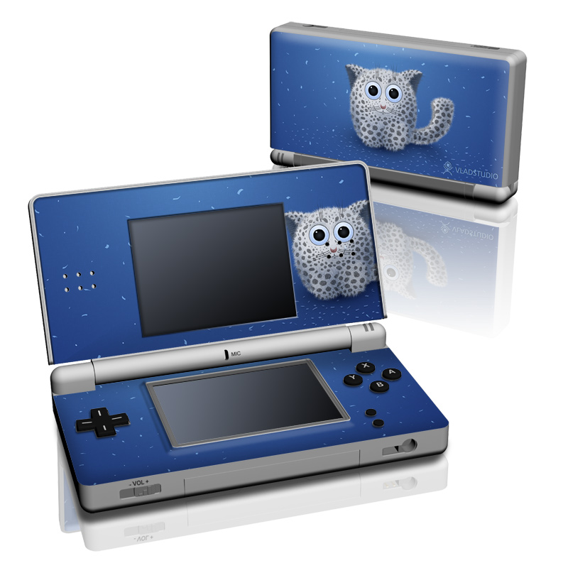 Nintendo DS Lite Skin design of Owl, Snowy owl, Blue, Bird of prey, Sky, Bird, Organism, Snout, Space with blue, gray, black colors