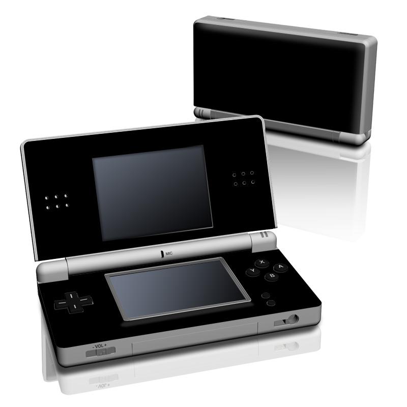 Solid State Black Nintendo DS Lite Skin