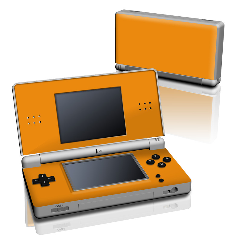 Nintendo DS Lite Skin design of Orange, Yellow, Brown, Text, Amber, Font, Peach with orange colors