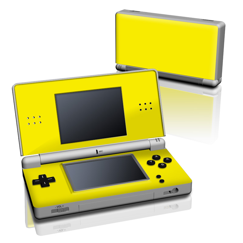 Solid State Yellow Nintendo DS Lite Skin