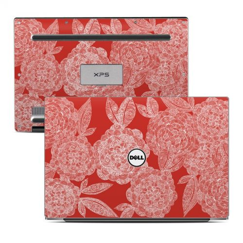 Red Dahlias Dell XPS 13 Skin