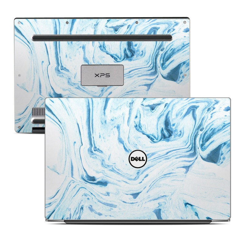 Dell XPS 13 9343 Skin design of Water, Aqua, Wind wave, Drawing, Painting, Wave, Pattern, Art with blue colors