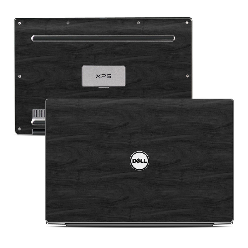 Dell XPS 13 9343 Skin design of Black, Brown, Wood, Grey, Flooring, Floor, Laminate flooring, Wood flooring with black colors
