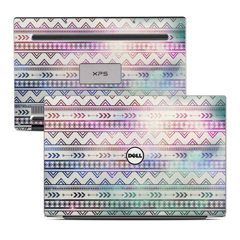 Dell XPS 13 9343 Skin design of Pattern, Line, Teal, Design, Textile with gray, pink, yellow, blue, black, purple colors