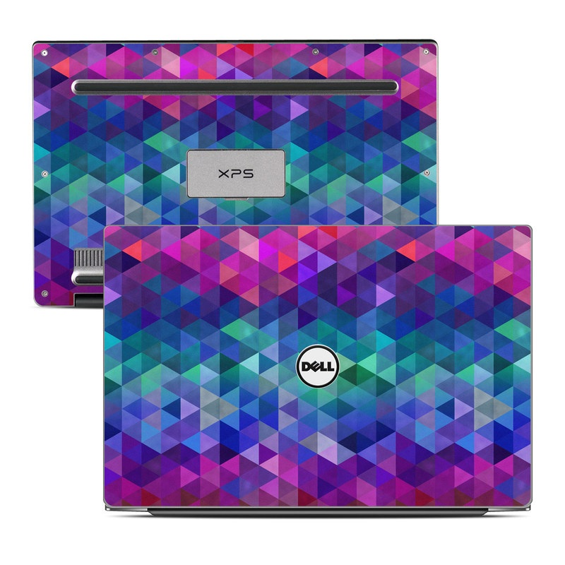 Dell XPS 13 9343 Skin design of Purple, Violet, Pattern, Blue, Magenta, Triangle, Line, Design, Graphic design, Symmetry with blue, purple, green, red, pink colors