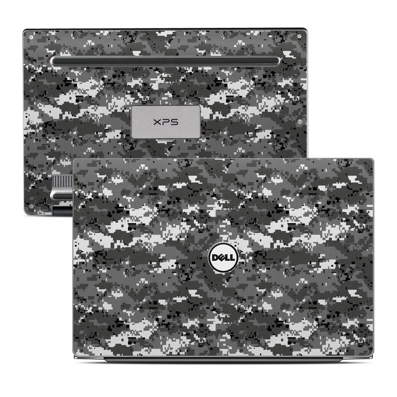Dell XPS 13 9343 Skin design of Military camouflage, Pattern, Camouflage, Design, Uniform, Metal, Black-and-white with black, gray colors