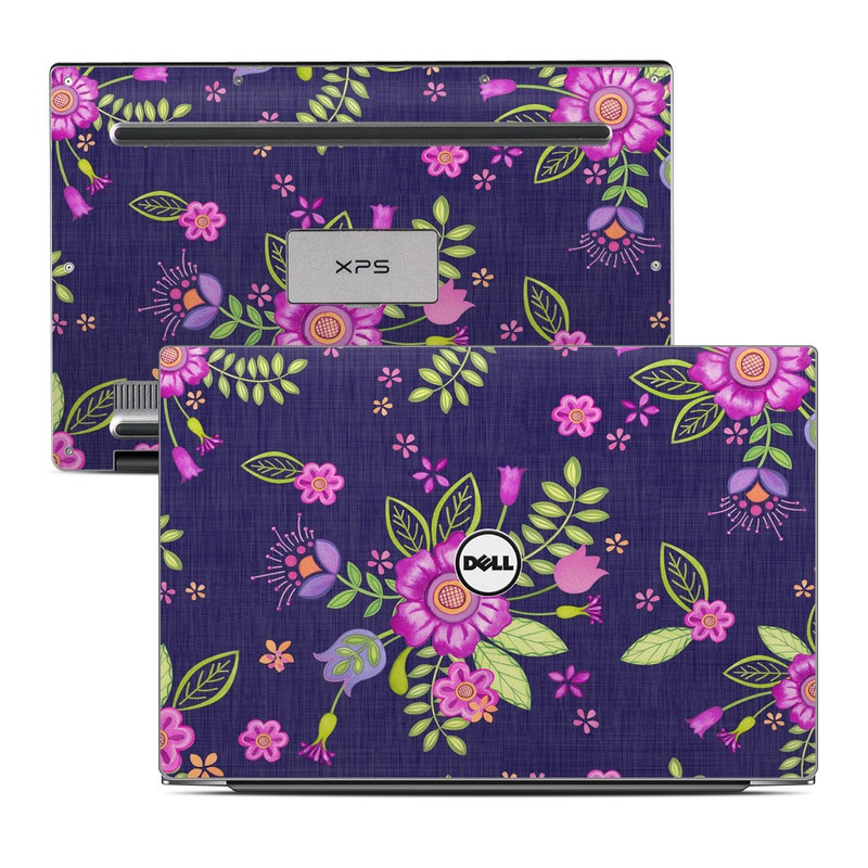 Folk Floral Dell XPS 13 9343 Skin