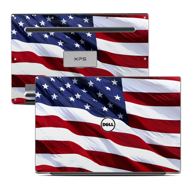 Dell XPS 13 9343 Skin design of Flag, Flag of the united states, Flag Day (USA), Veterans day, Memorial day, Holiday, Independence day, Event with red, blue, white colors