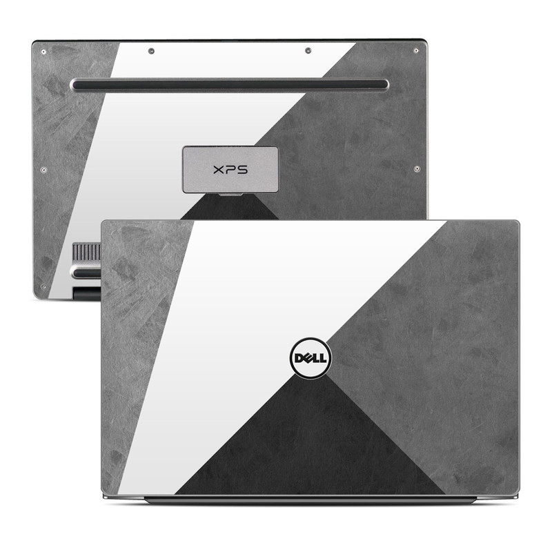 Dell XPS 13 9343 Skin design of Black, White, Black-and-white, Line, Grey, Architecture, Monochrome, Triangle, Monochrome photography, Pattern with white, black, gray colors