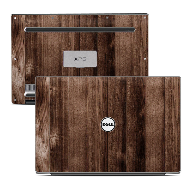Dell XPS 13 9343 Skin design of Wood, Wood flooring, Hardwood, Wood stain, Plank, Brown, Floor, Line, Flooring, Pattern with brown colors