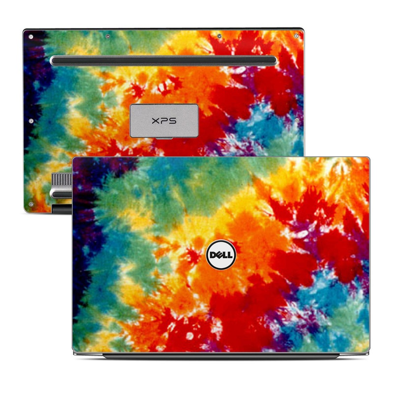 Dell XPS 13 9343 Skin design of Orange, Watercolor paint, Sky, Dye, Acrylic paint, Colorfulness, Geological phenomenon, Art, Painting, Organism with red, orange, blue, green, yellow, purple colors