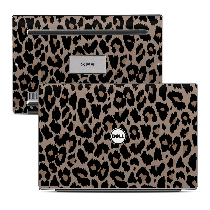 Dell XPS 13 9343 Skin design of Pattern, Brown, Fur, Design, Textile, Monochrome, Fawn with black, gray, red, green colors