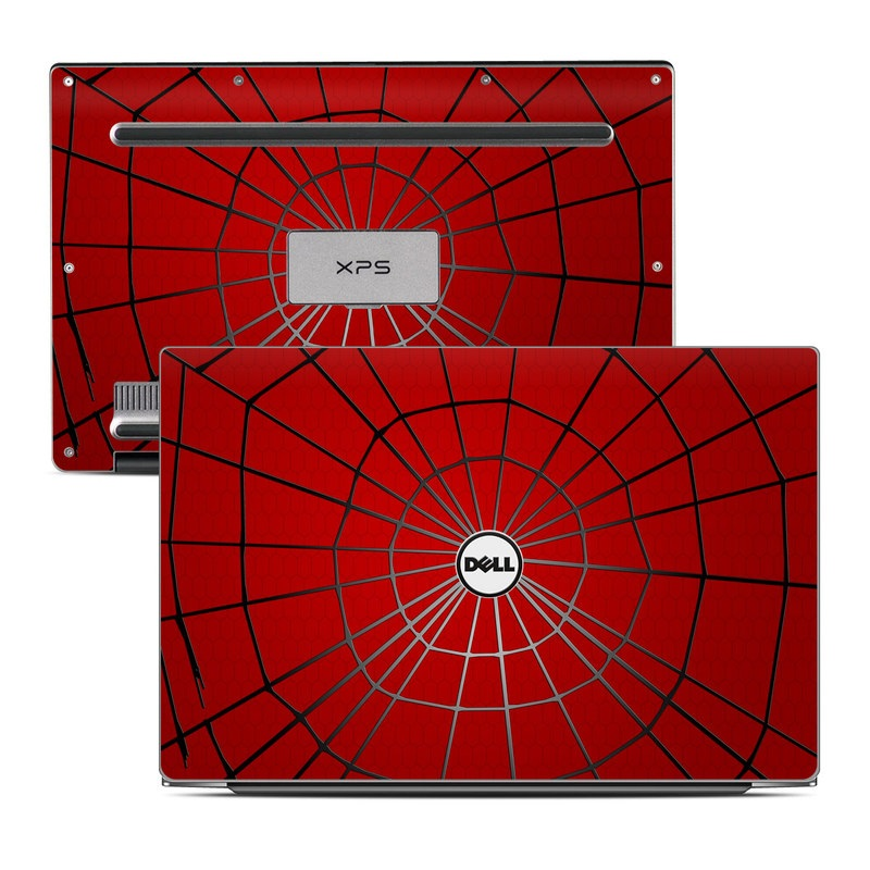 Dell XPS 13 9343 Skin design of Red, Symmetry, Circle, Pattern, Line with red, black, gray colors