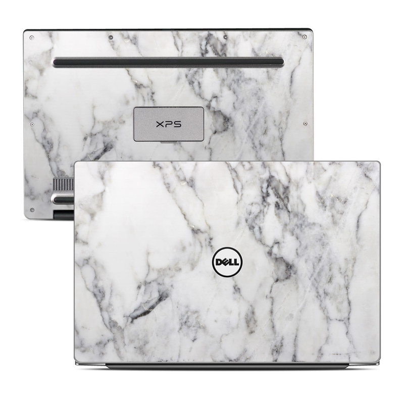 Dell XPS 13 9343 Skin design of White, Geological phenomenon, Marble, Black-and-white, Freezing with white, black, gray colors