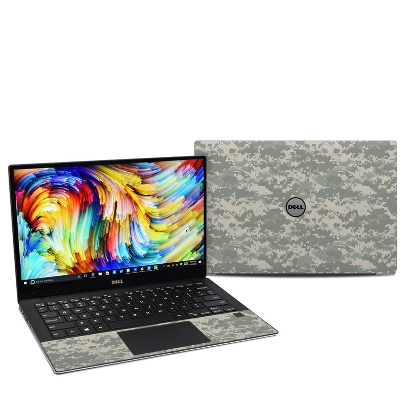 Dell XPS 13 9360 Skin design of Military camouflage, Green, Pattern, Uniform, Camouflage, Design, Wallpaper with gray, green colors