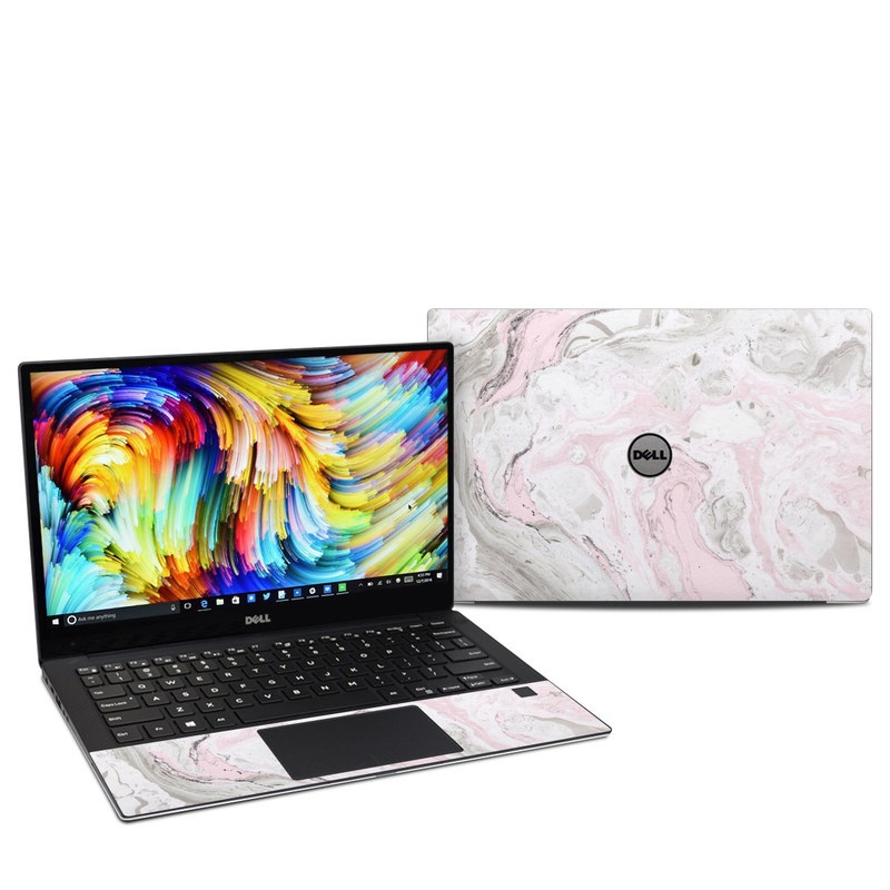 Dell XPS 13 9360 Skin design of White, Pink, Pattern, Illustration with pink, gray, white colors
