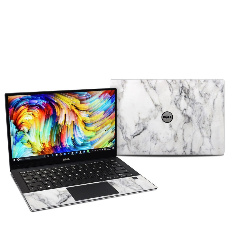 Dell XPS 13 9360 Skin design of White, Geological phenomenon, Marble, Black-and-white, Freezing with white, black, gray colors