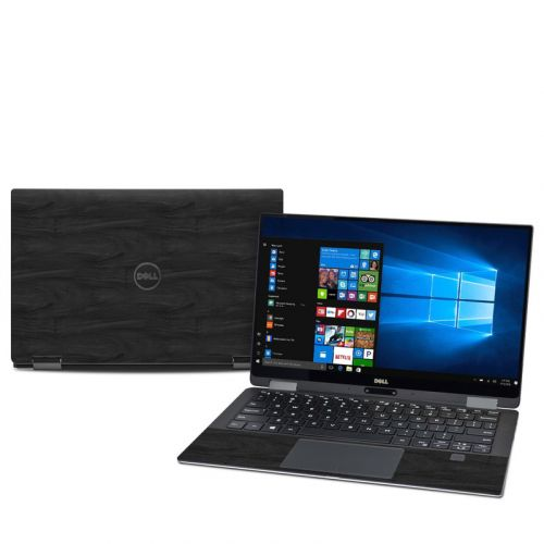 Black Woodgrain Dell XPS 13 2-in-1 9365 Skin