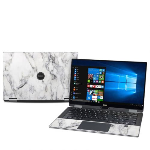 White Marble Dell XPS 13 2-in-1 9365 Skin