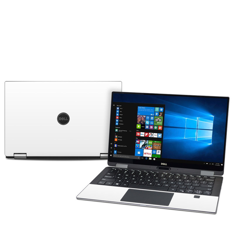 Dell XPS 13 9365 Skin design of White, Black, Line with white colors