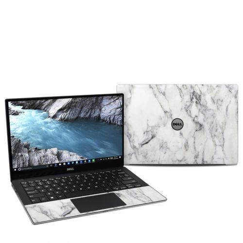 White Marble Dell XPS 13 9370 Skin
