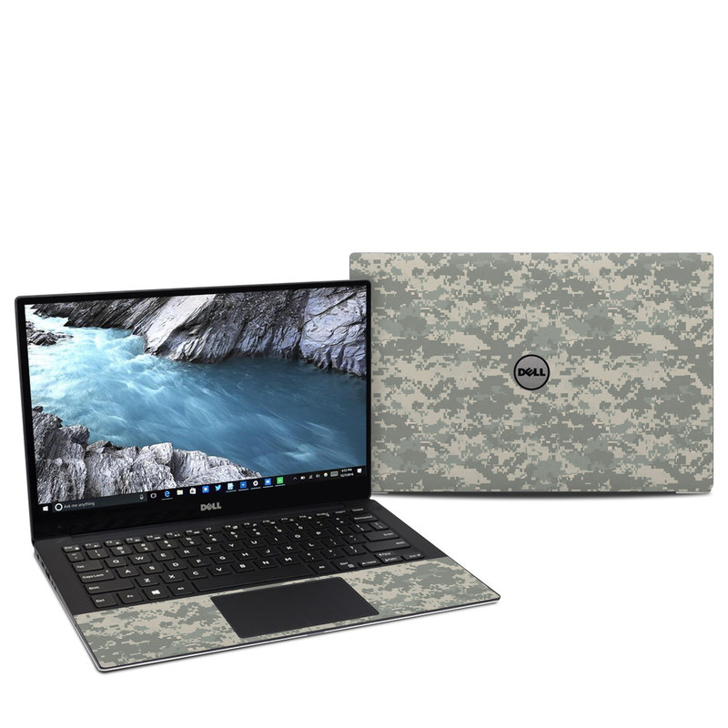 Dell XPS 13 9370 Skin design of Military camouflage, Green, Pattern, Uniform, Camouflage, Design, Wallpaper with gray, green colors