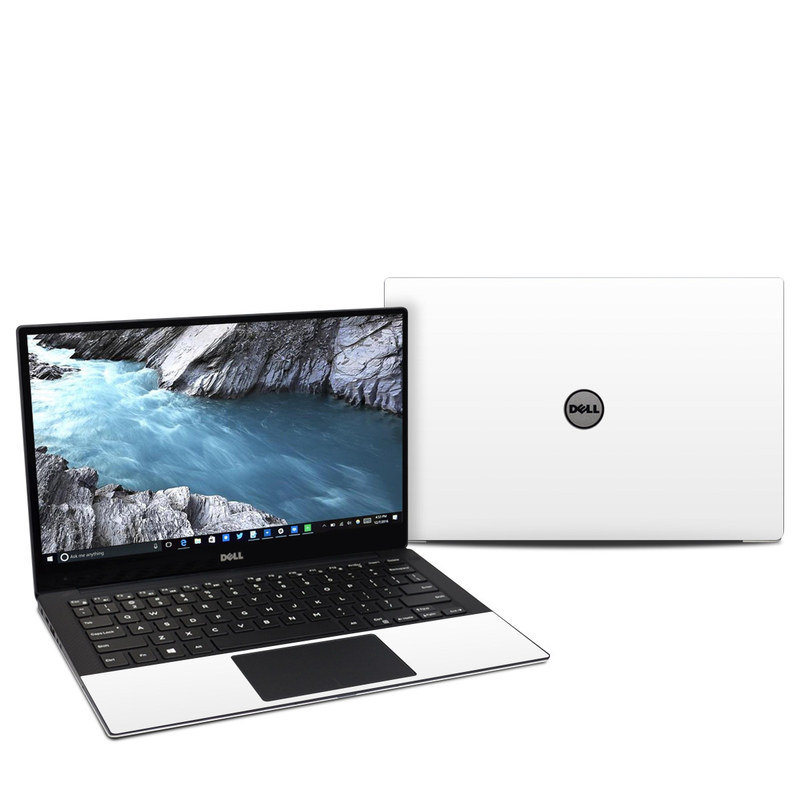 Dell XPS 13 9370 Skin design of White, Black, Line with white colors