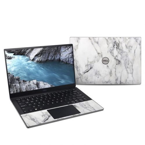 White Marble Dell XPS 13 9380 Skin