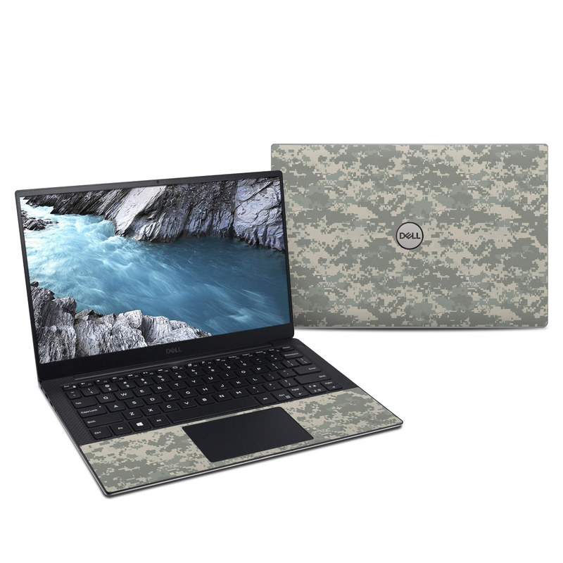 Dell XPS 13 9380 Skin design of Military camouflage, Green, Pattern, Uniform, Camouflage, Design, Wallpaper with gray, green colors