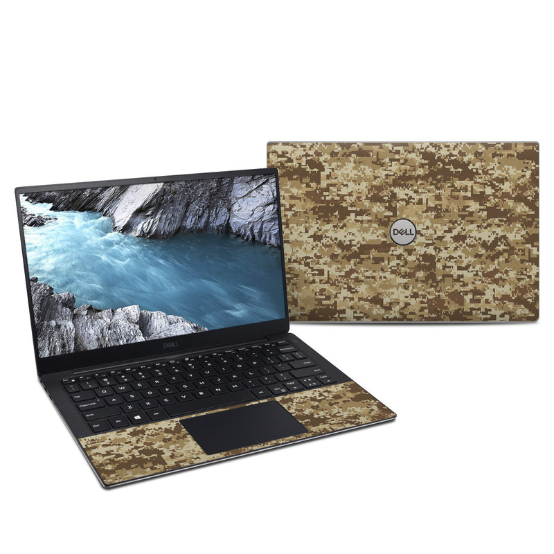 Dell XPS 13 9380 Skin design of Military camouflage, Brown, Pattern, Camouflage, Wall, Beige, Design, Textile, Uniform, Flooring with brown colors