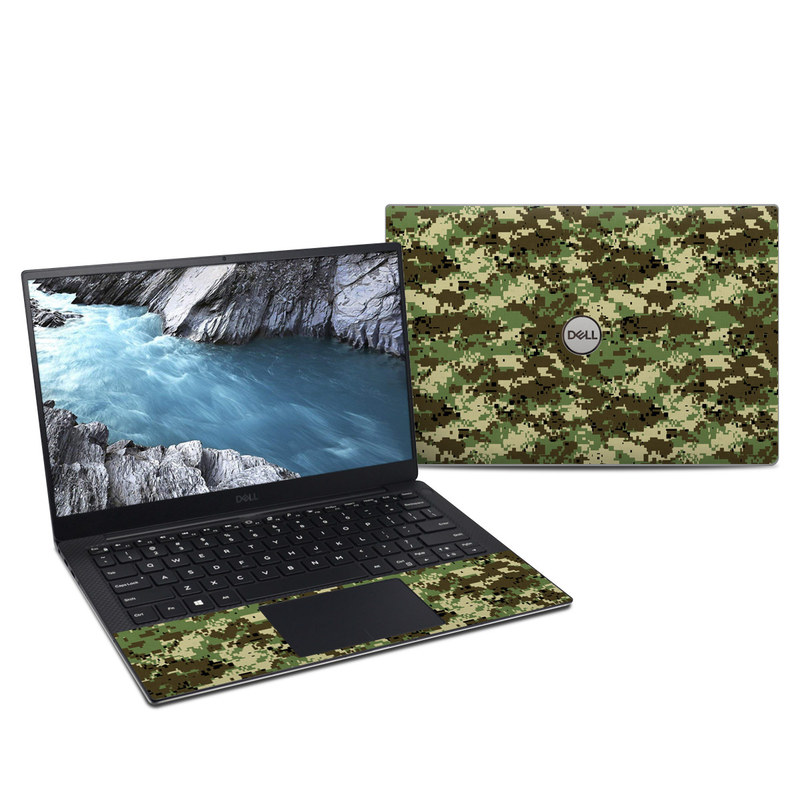 Dell XPS 13 9380 Skin design of Military camouflage, Pattern, Camouflage, Green, Uniform, Clothing, Design, Military uniform with black, gray, green colors