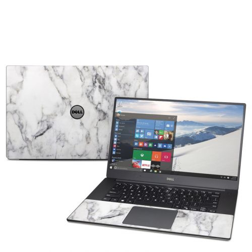 White Marble Dell XPS 15 9560 Skin