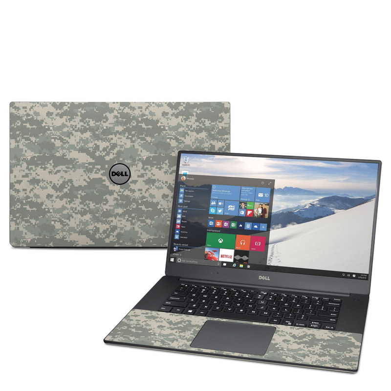 Dell XPS 15 9560 Skin design of Military camouflage, Green, Pattern, Uniform, Camouflage, Design, Wallpaper with gray, green colors
