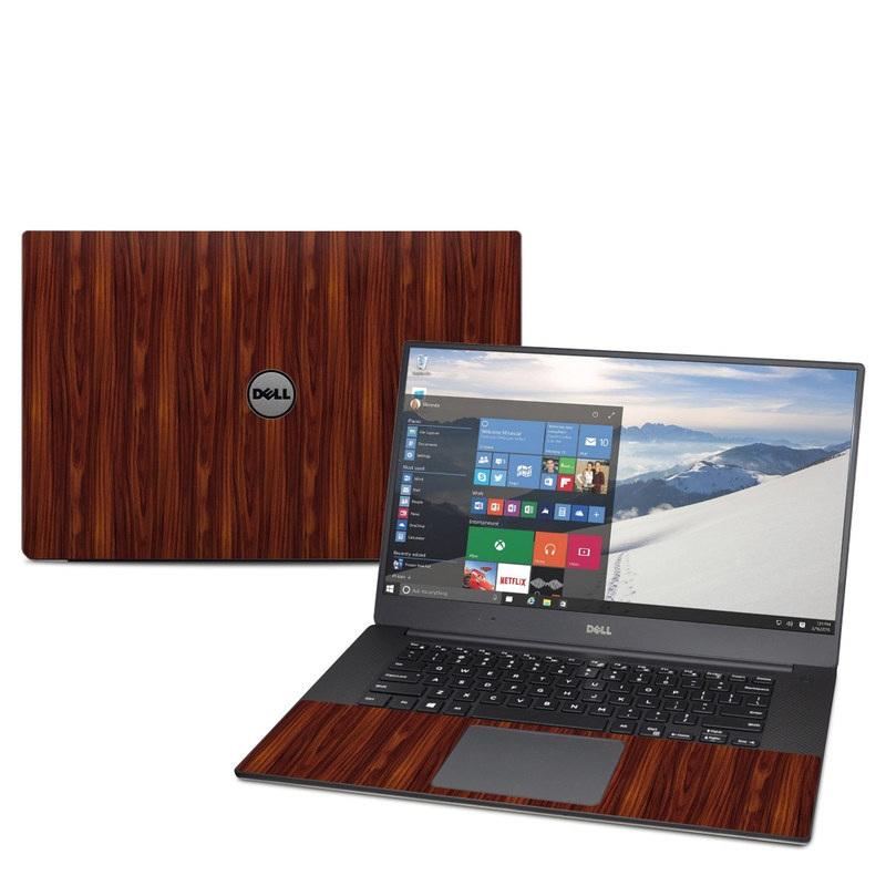 Dell XPS 15 9560 Skin design of Wood, Red, Brown, Hardwood, Wood flooring, Wood stain, Caramel color, Laminate flooring, Flooring, Varnish with black, red colors